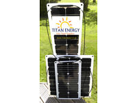 BLACK FRIDAY DEALS TITAN ENERGY UK Flexible Solar Panels 50W + 100W 140W