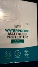 Waterproof mattress protector. King size 150x200cm (NEW)