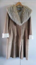 Ladies mid-length sheepskin coat