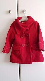 Baby Girl Autumn Jacket (18 to 24 months) - Brand: Debenhams / Bluezoo - Red – £8