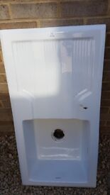 Rangemaster ceramic white sink