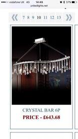 United lights Egyptian crystal Single bar ceiling light
