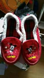 Mens ddisney mickey mouse slippers sz 10-11