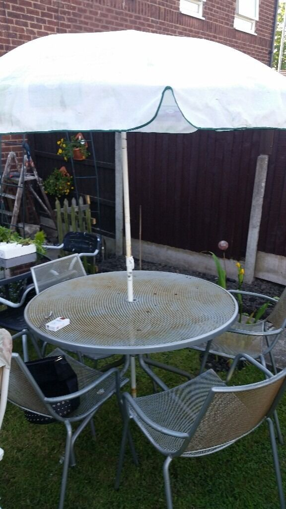 patio setin Denton, ManchesterGumtree - silver solid patio set £55 will last for years ......... ........ .....