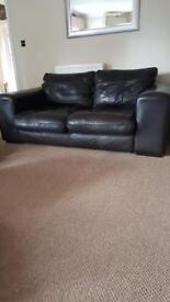 Leather sofa 3 seater 6ft