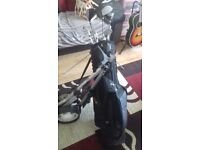 full set of rident golf clubs, bag and trolley