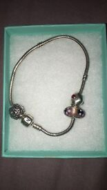Ladies Pandora Bracelet with charms