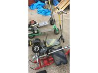 4 petrol scooter green one just need a chain other 3 spares and repairs