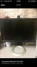 DELL 16.5 INCH COMPUTER MONITOR WITH ADJUSTABLE STAND