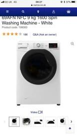 HOOVER Dynamic Next DXOC 69AFN NFC 9 kg 1600 Spin Washing Machine - White new graded