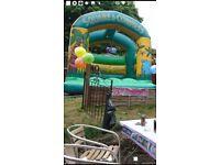 Jungle themed bouncy castle