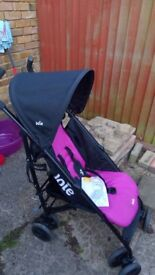 Joie Nitro Pink Stroller - nearly new