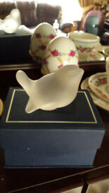 ornamental Frosted Glass Bird