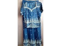 Indian Blue Lengha suit