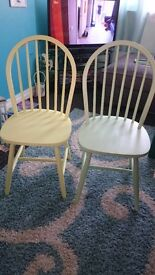 Green and Yellow dining room chair