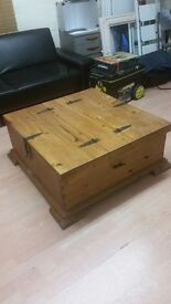 Large Antique-looking Solid Wood Pine Chest!!!