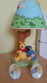 Disney Winnie the Pooh Lamp , Lampshade and 2 Lights