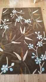 Lovely brown/blue large rug