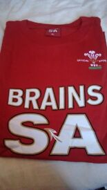 Brains WRU t-shirts x2 rugby