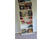 Tall white IKEA BILLY bookshelf - good condition; QUICK SALE