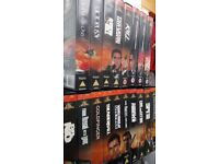 VIDEO VHS JAMES BOND 007 COLLECTION,18 FILMS,MOSTLY UNPLAYED DOLBY STEREO