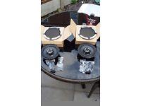 Vibe slick 6 coaxial 2 way 240 watt speakers