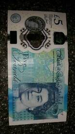 Five pound note . Limited addition ***REDUCED***