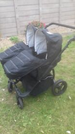 Double pushchair only used a couple of times good condition front and forward faceing from birth