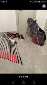 Full set of cobra amp golf clubs
