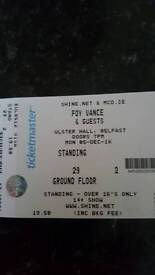 Foy Vance 2 tickets