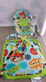 Bright start activity gym and vibrating bouncer