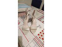 Next gold sparkly heels size 4 brand new