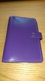 Filofax The Original Personal Organiser Purple Leather