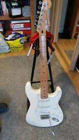 Fender Stratocaster with Fishman Fluence pickups.