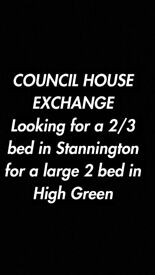 LOOKING FOR A 2 or 3 BED HOUSE STANNINGTON