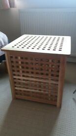 Ikea Solid Wood Bedside table/Side table/Laundry box. Fully Built