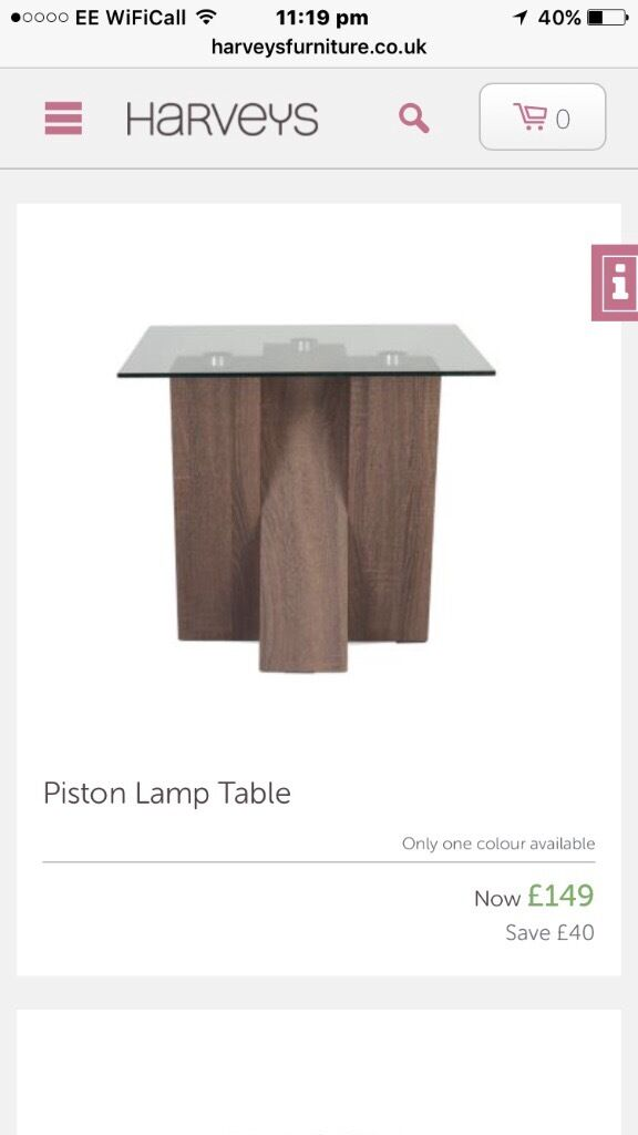 Harvey S Piston Lamp Table