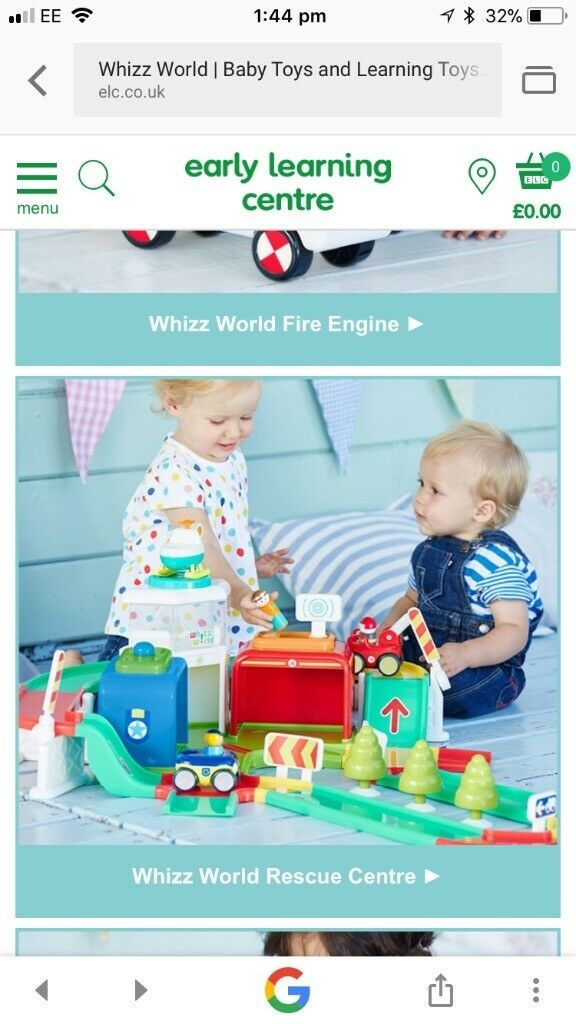 Will post. Like new. Light up ELC whizz world recue car garage with toys complete easy assemble