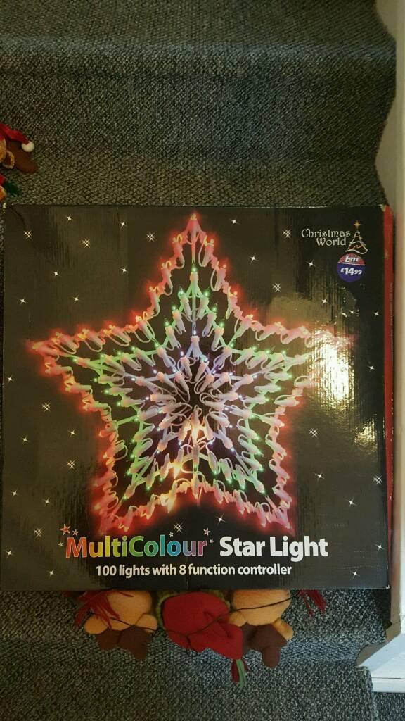 Christmas flashing window star