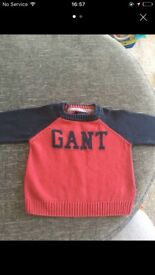 Boys GANT jumper aged 6 months
