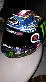 Lorenzo Graffiti Helmet. Immaculate condition.