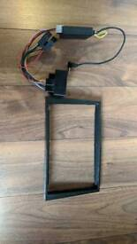 Corsa astra double din fascia and steering wheel controls interface