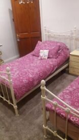 2 Single Beds for Sale with mattresses - Good condition
