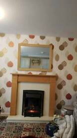 Fire with surround and matching mirrow