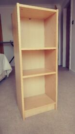 Slim Book Case - maple finish