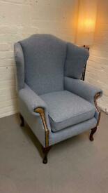 Chesterfield wingback chair Ex display (free delivery)