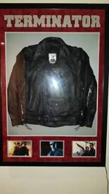 Hand signed Licensed replica terminator t800 jacket