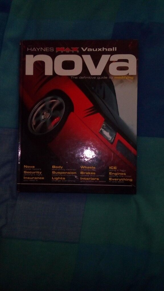 HAYNES MAX POWER MODIFYING VAUXHALL NOVA BOOK immaculate condition never read