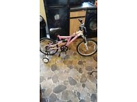 "NEW - Pink terrain bike dual speed 20"" with suspension"
