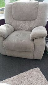 Lazy boy 3 seater sofa & 2 reclining chairs